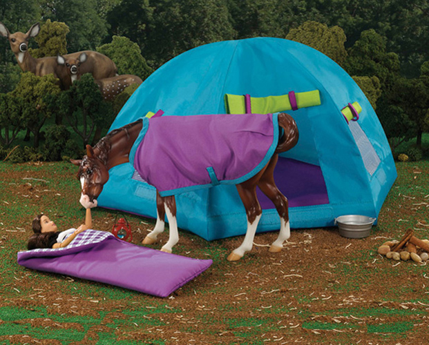 Breyer Traditional Series #1380 Backcountry Camping Set! (Horse Sold Separately) -New-Factory Sealed