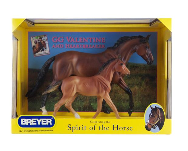 Breyer Horse Traditional Series #1474 GG Valentine & Heartbreaker (Includes Mare and foal) -New-Factory Sealed