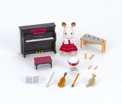 Calico Critters #CC1485 School Music Set - New Factory Sealed