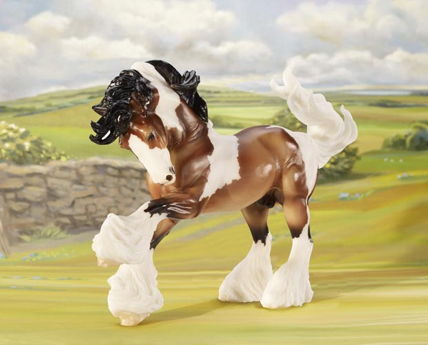 Breyer Horse Traditional Series #1497 Gypsy Vanner Hand Painted 1:9 Scale -New-Factory Sealed
