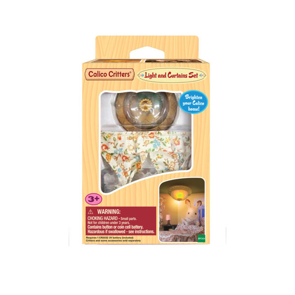 Calico Critters #CC1501 Light & Curtain Set