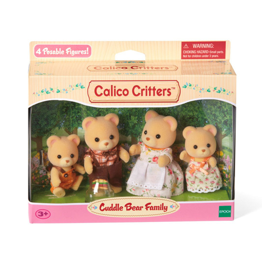 CALICO CRITTERS #CC1509 Cuddle Bear Family - New Factory Sealed