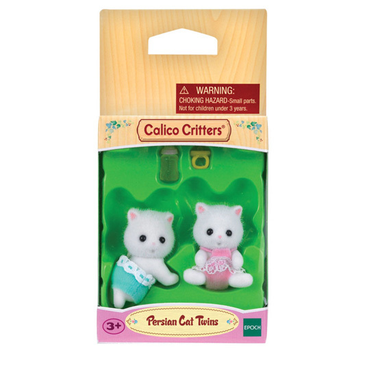 Calico Critters #CC1586 Persian Cat Twins - New Factory Sealed - Click Image to Close