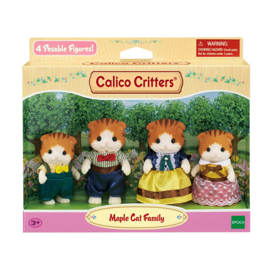 CALICO CRITTERS #CC1794 Maple Cat Family - New Factory Sealed