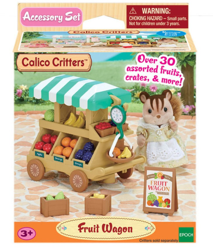 CALICO CRITTERS #CC1741 Fruit Wagon - New Factory Sealed