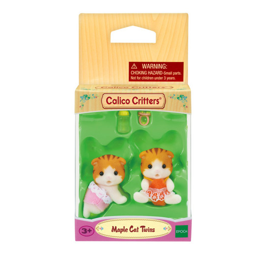 CALICO CRITTERS #CC1795 Maple Cat Twins - New Factory Sealed