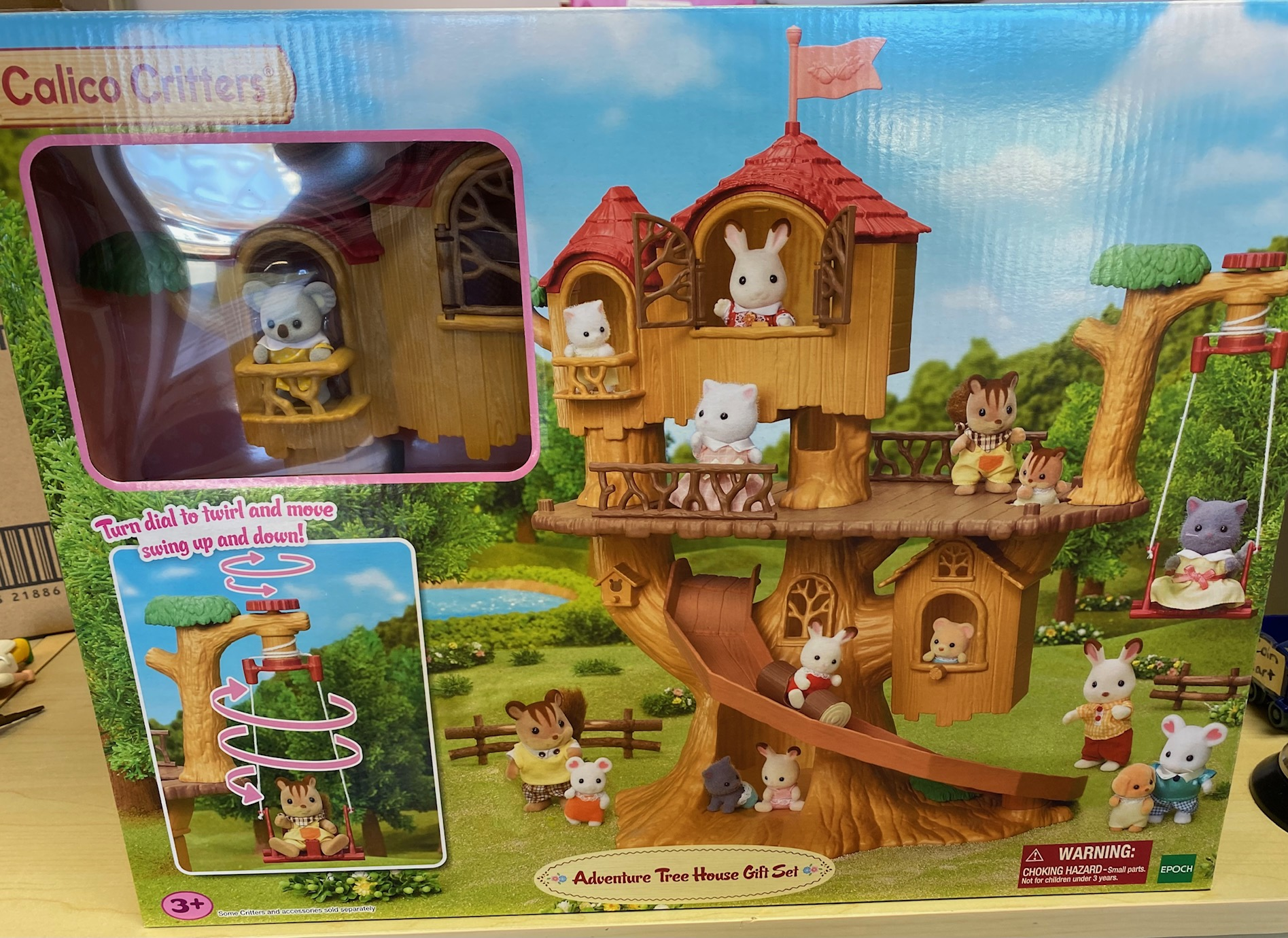 CALICO CRITTERS #1886 Adventure Tree House Gift Set- New Factory Sealed!