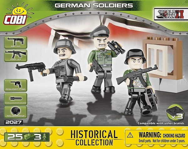 COBI TOYS #2027 Small German Army Figures Building Set