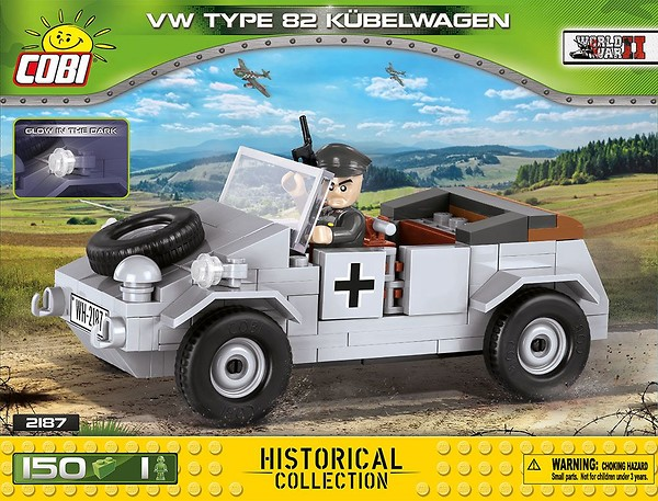 COBI TOYS #2187 Small Army VW Type 82 Kubelwagen Building Set