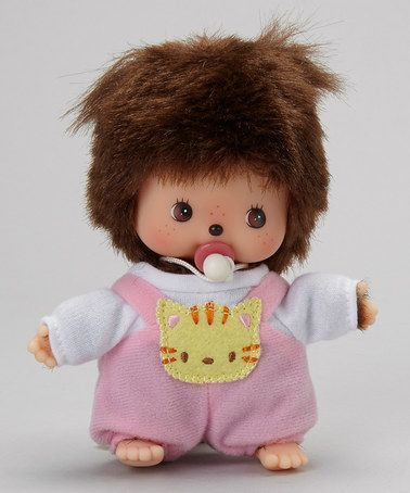 Monchhichi #236380 Bebichhichi Romper Girl Doll - New in Package - By Sekiguchi!