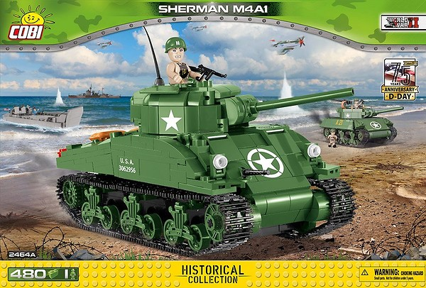 COBI TOYS #2464A Sherman Tank Building Model