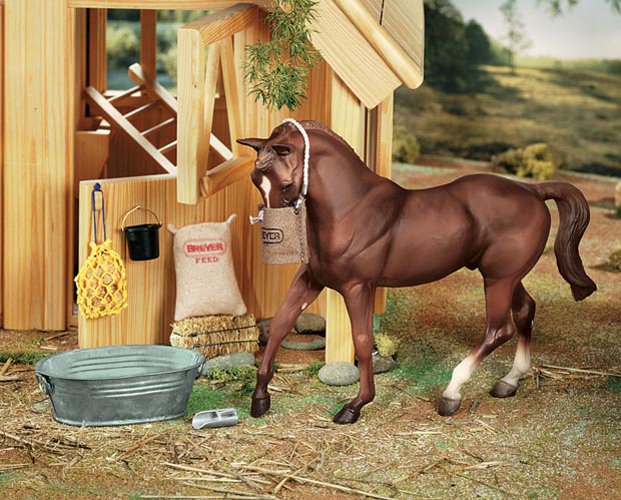 Breyer Horse Traditional Series #3947 Blue Blanket and Shipping Boots New Fac