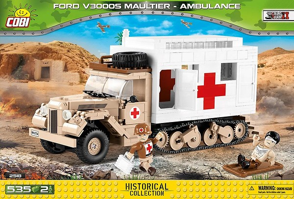 COBI TOYS #2518 Small Army Ford V3000S Maultier Truck Building Set