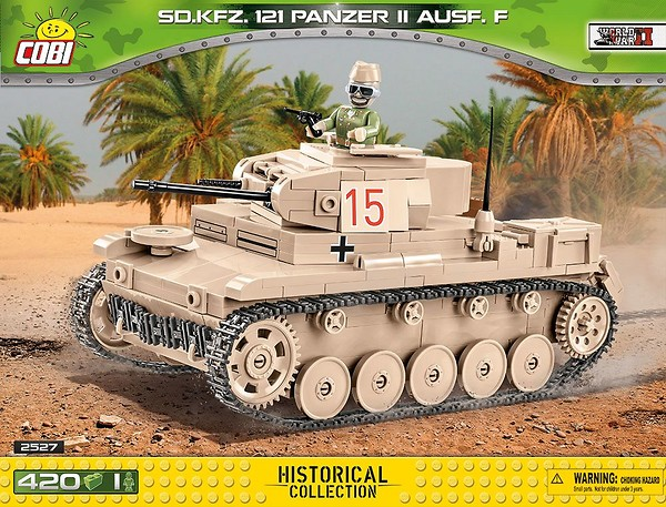 COBI TOYS #2527 Small Army Sd.Kfz.121 Panzer II Building Set