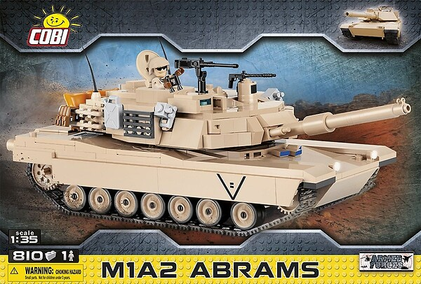 COBI TOYS #2619 M1A2 Abrams Tank Model Set NEW!