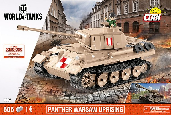 COBI Toys #3035 Small Army PZKPFW V Warsaw Panther Model New