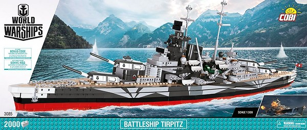COBI #3085 Battleship Tirpitz NEW!