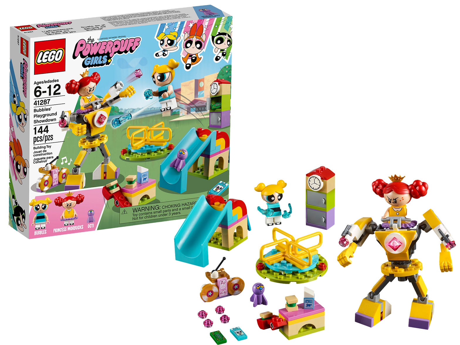 LEGO POWERPUFF GIRLS #41287 Bubbles' Playground Showdown - New Factory Sealed