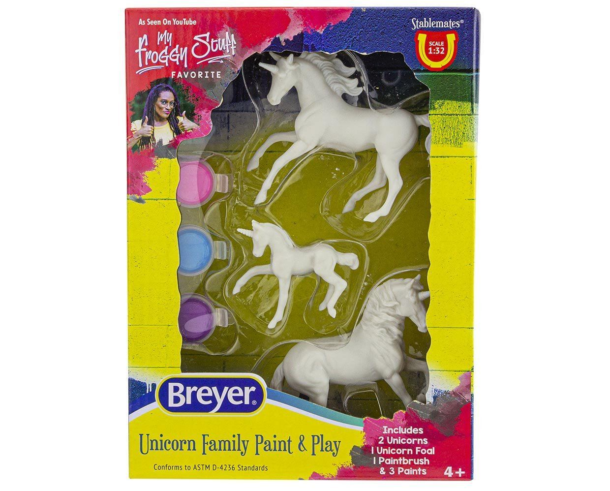 Breyer #4262 Unicorn Family Paint and Play- New Factory Sealed!