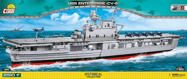 COBI TOYS #4815 USS Enterprise CV-6 Aircraft Carrier Model Set NEW!
