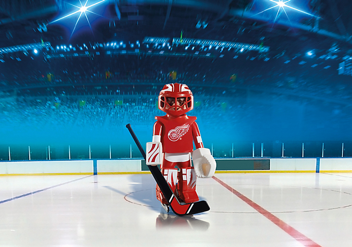 Playmobil #5076 NHL Hockey® Detroit Red Wings Goalie - New Factory Sealed