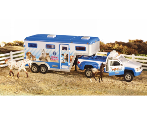 Breyer Stablemates #5352 Animal Rescue Truck & Trailer! (Fencing & Horses Sold Separately) -New-Factory Sealed
