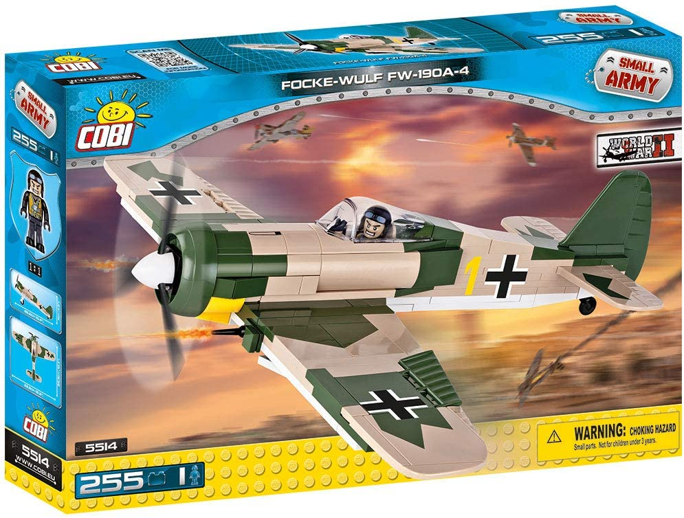 COBI TOYS #5514 Focke-Wulf Fw 190 A-4 Plane Building Block Kit NEW!