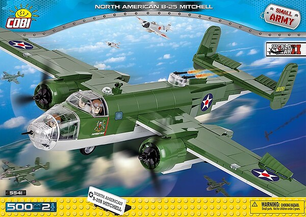 COBI TOYS #5541 North American B-25B Mitchell Building Toy Model Plane - Click Image to Close