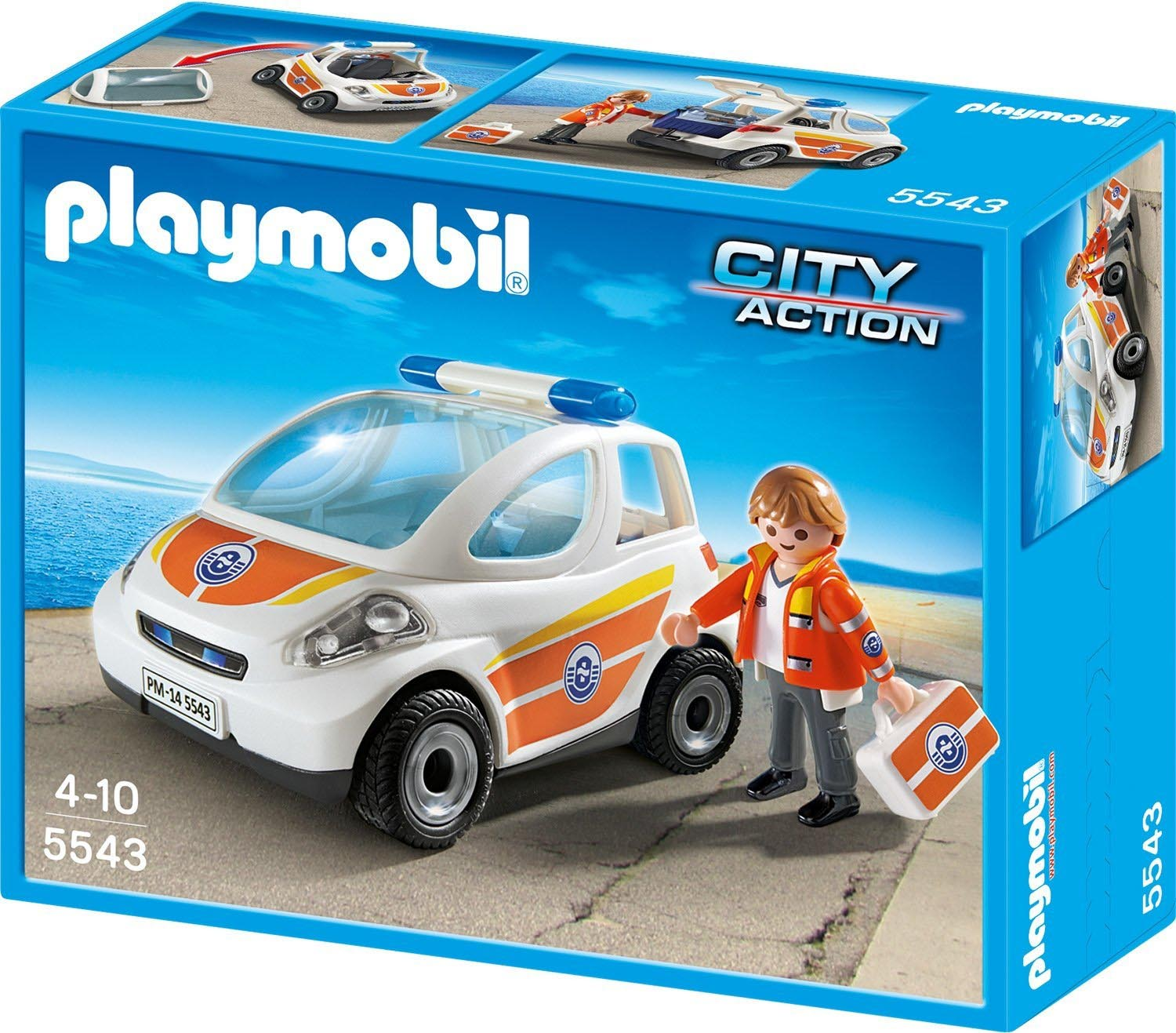 Playmobil #5543 RETIRED Emergency Vehicle -New-Factory Sealed!