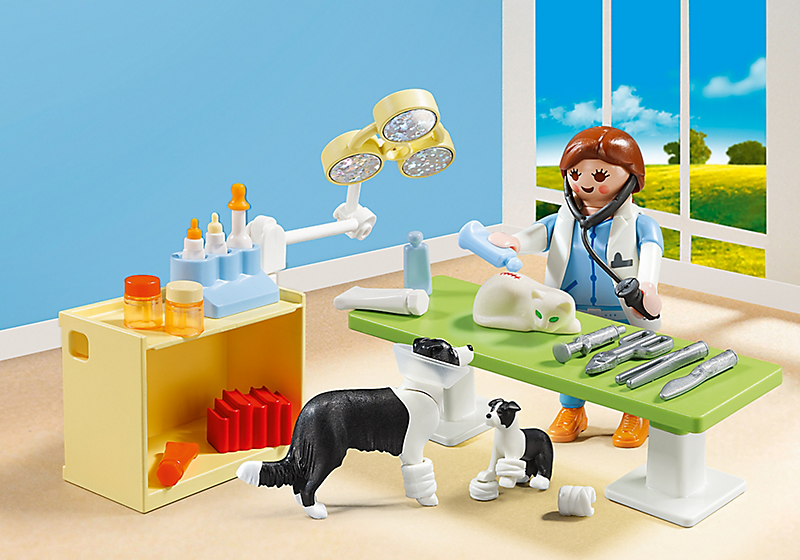 Playmobil #5653 Vet Visit Carry Case - New Factory Sealed