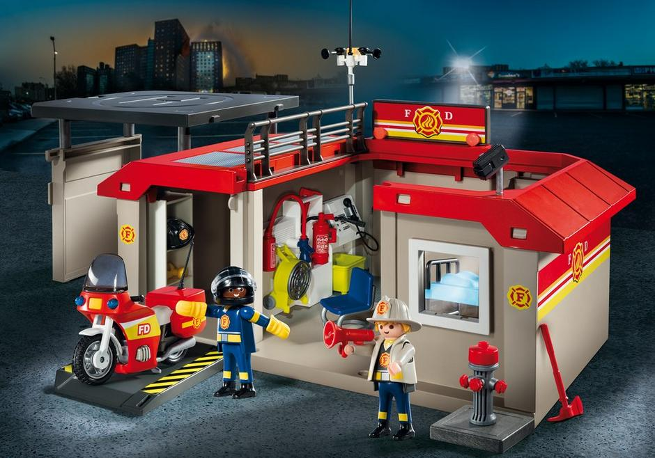 Playmobil #5663 Take Along Fire Station - New Factory Sealed