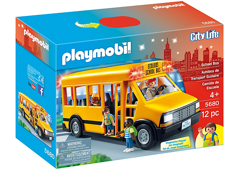 Playmobil #5680 School Bus - New Factory Sealed