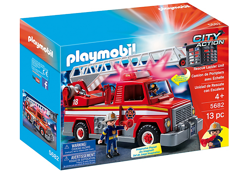Playmobil #5682 Ladder Unit Truck - New Factory Sealed