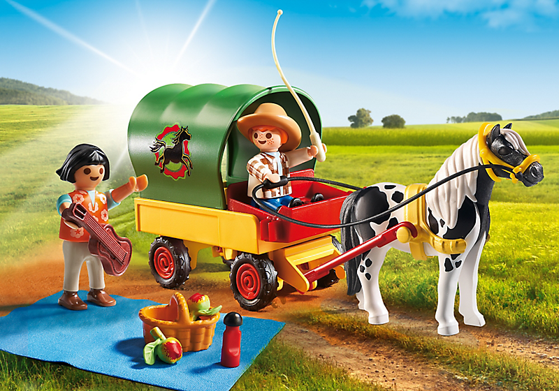 Playmobil #5686 Picnic with Pony Wagon - New Factory Sealed