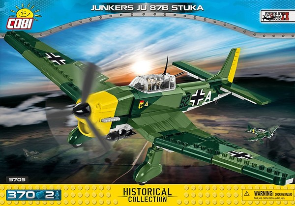COBI TOYS #5705 Small Army Junkers Ju 87B Stuka Model Plane Set NEW!