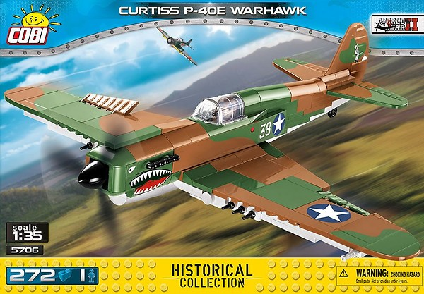 COBI TOYS #5706 Curtiss P-40E Warhawk Model Plane Set NEW!