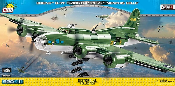 COBI TOYS #5707 B-17F Memphis Belle Model Plane Set NEW!