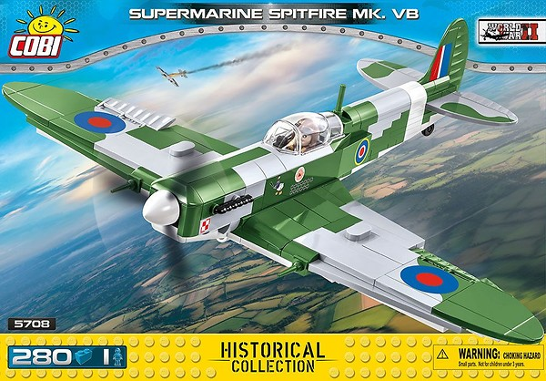 COBI TOYS #5708 Small Army Supermarine Spitfire Mk.VB Model NEW!