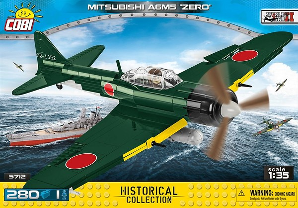 COBI TOYS #5712 Small Army Mitsubishi A6M5 Zero Model NEW!