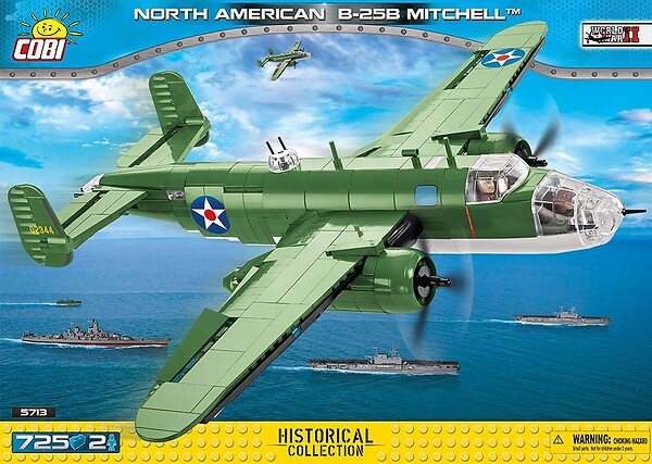 COBI TOYS #5713 North American B-25 Mitchell Plane Building Set NEW!