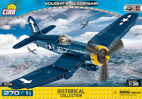 COBI TOYS #5714 Small Army Vought F4U Corsair Model NEW!