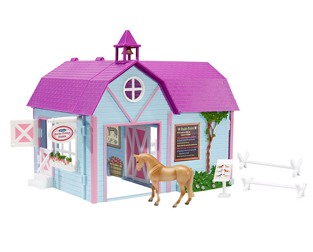 Breyer Stablemates Collection #59193 Horse Crazy Stable - New Factory Sealed