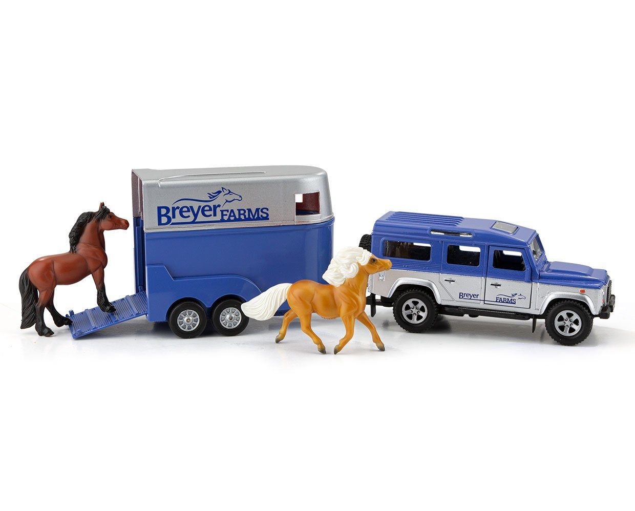 Breyer Horses #59216 Stablemates Land Rover w/ Tag-A-Long Trailer NEW!