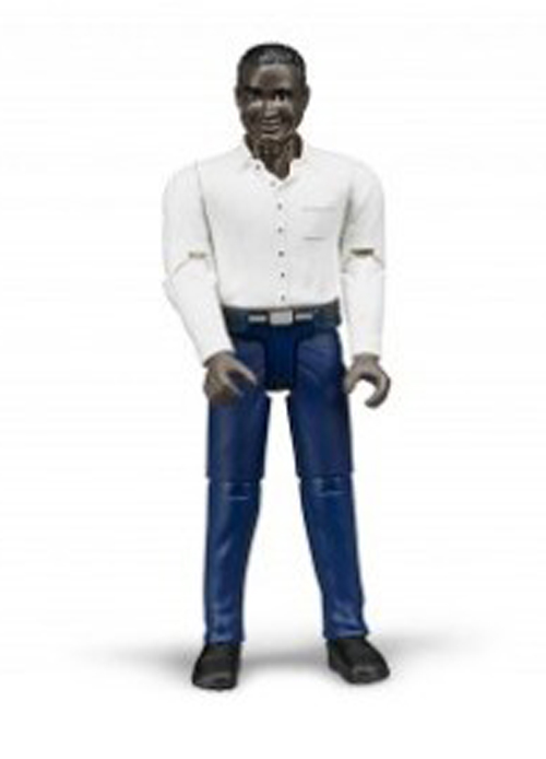 Bruder #60004 Man with Dark Skin and Dark Blue Jeans - New Factory Sealed