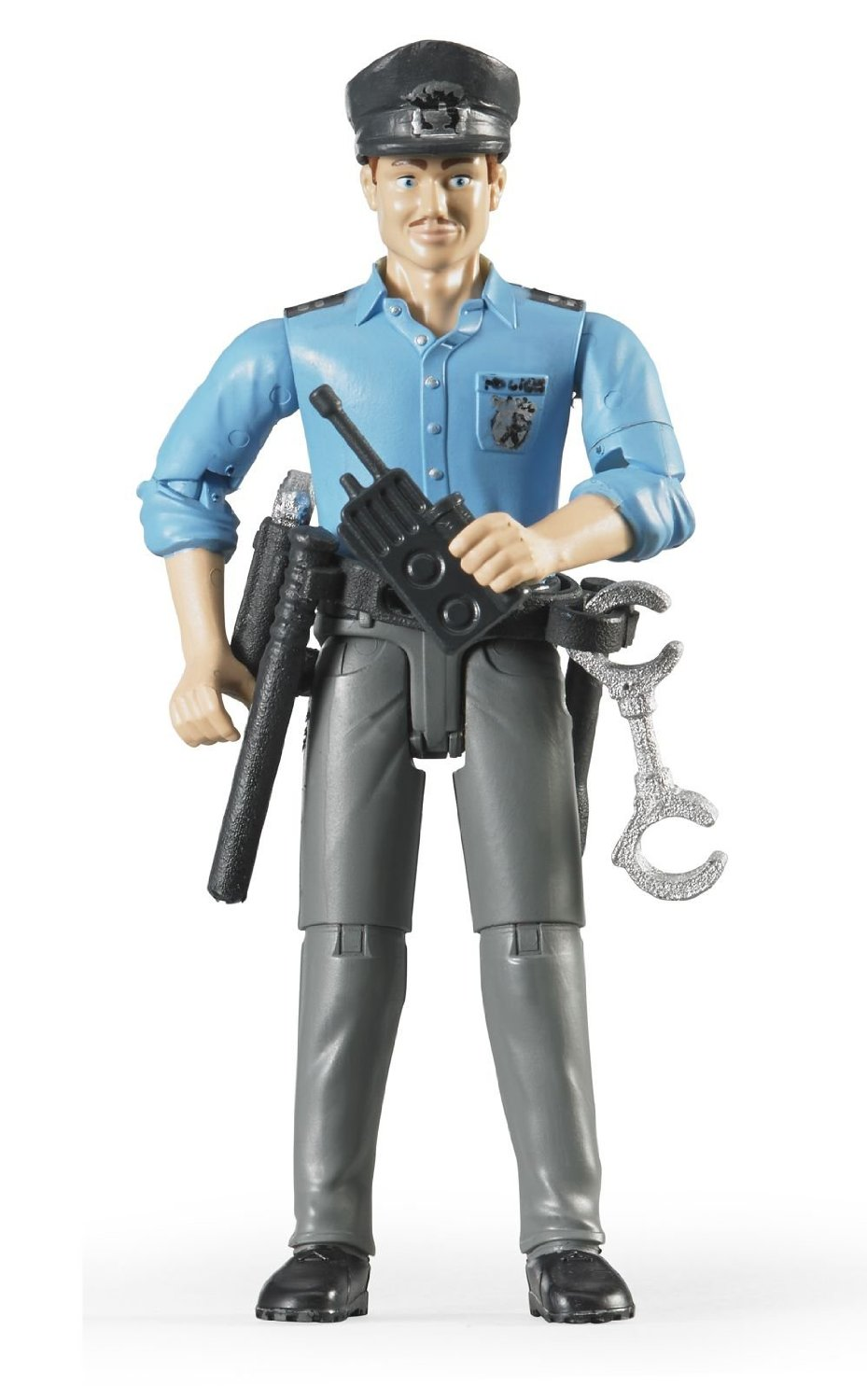 Bruder #60050 Policeman with Light Skin and Accessories - New Factory Sealed