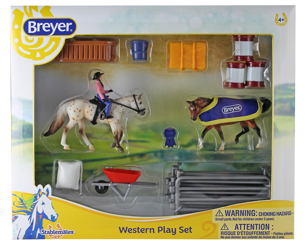 Breyer Stablemates Collection #6026 Western Play Set - New Factory Sealed