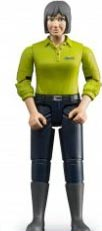 Bruder #60405 Woman, light skin. dark blue jeans -New-Factory Sealed!