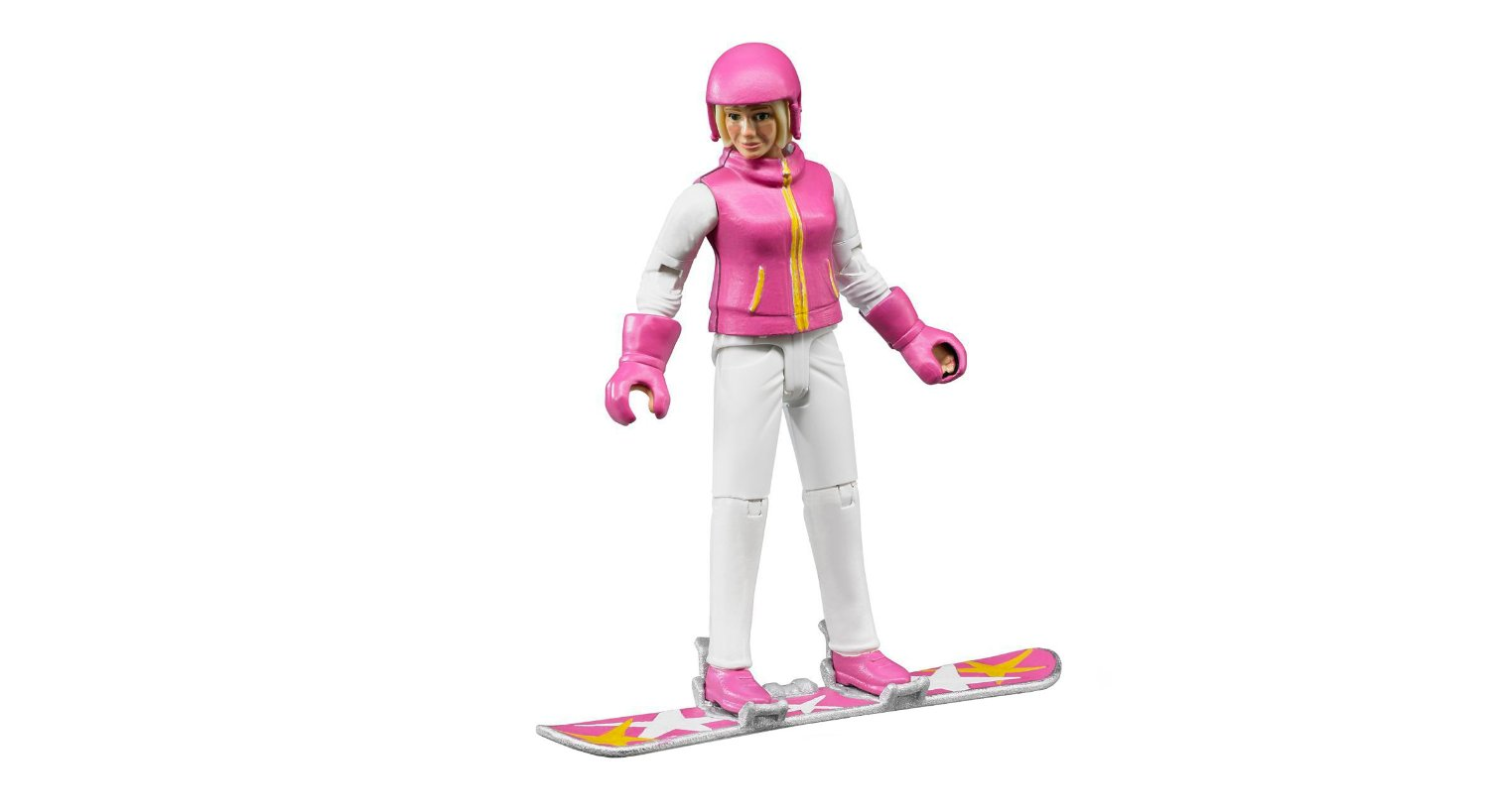 Bruder #60420 Snowboarder Woman with Accessories - New Factory Sealed