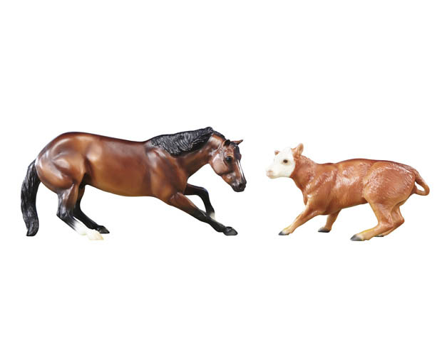 Breyer Classics Series #61091 Cutting Horse and Calf - New Factory Sealed