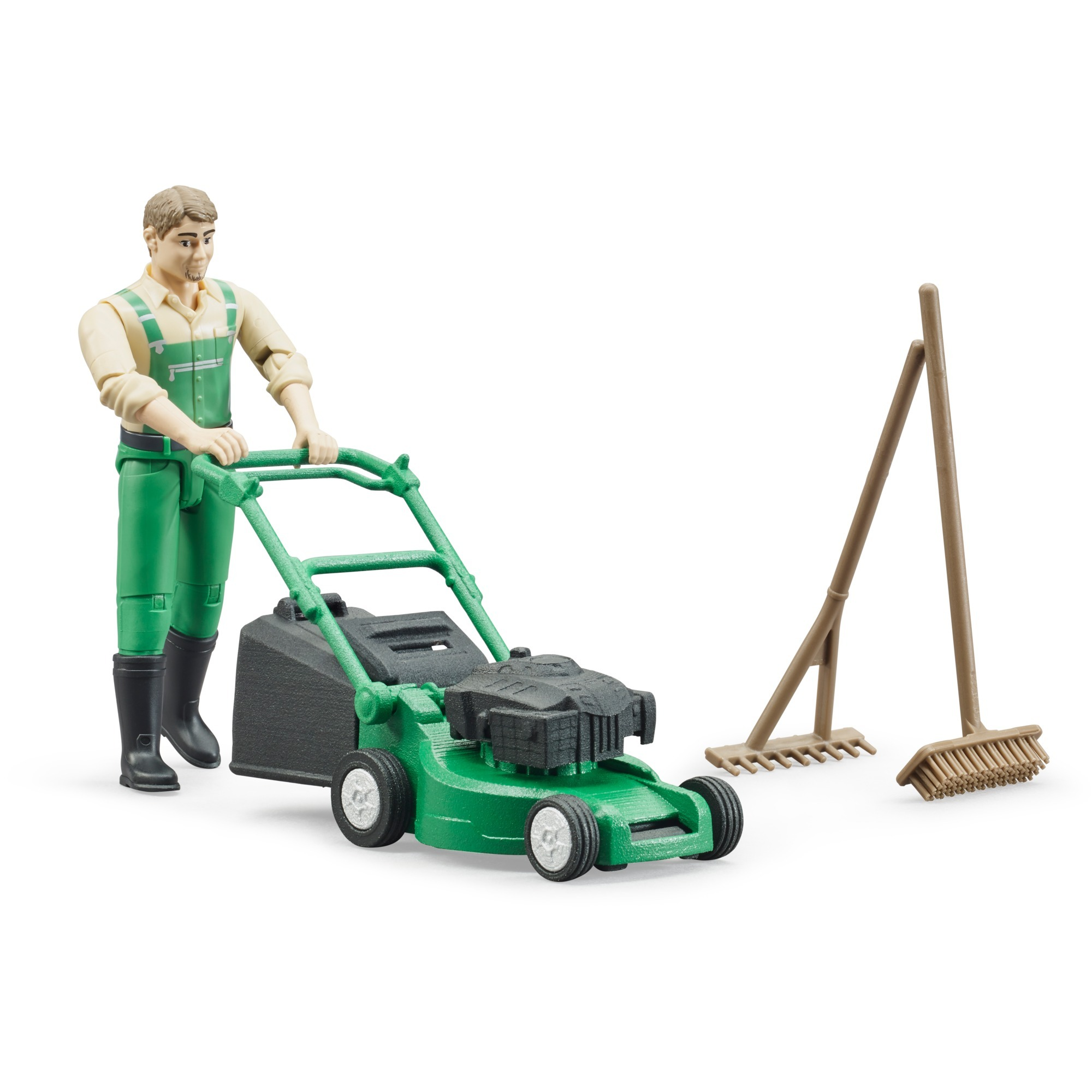 BRUDER #62103 bworld Gardener w/ Mower & Accessories NEW!